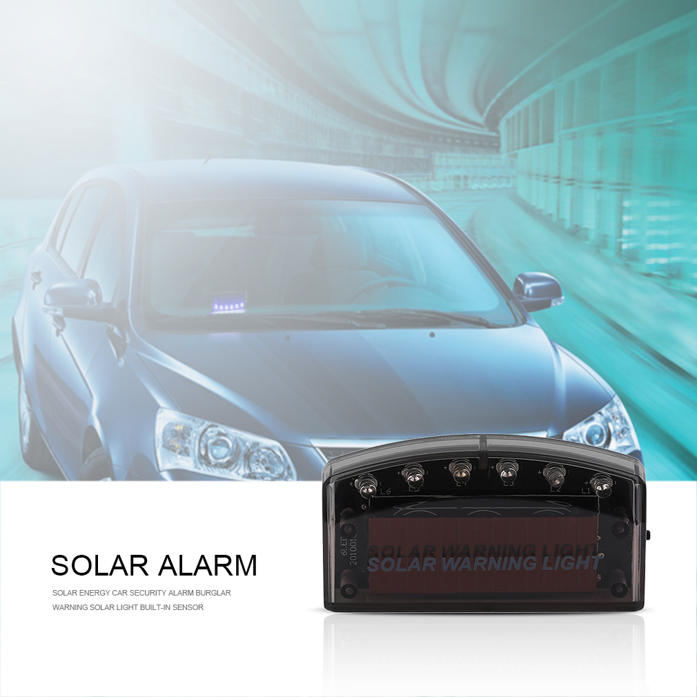 Solar Energy Car Security Alarm Burglar Warning Solar Light Built-in S..