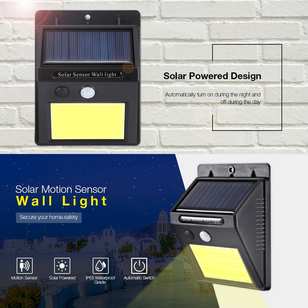 Solar Lamps - Solar Led Light - 48 Cob Led Solar Power Light Human Inf..