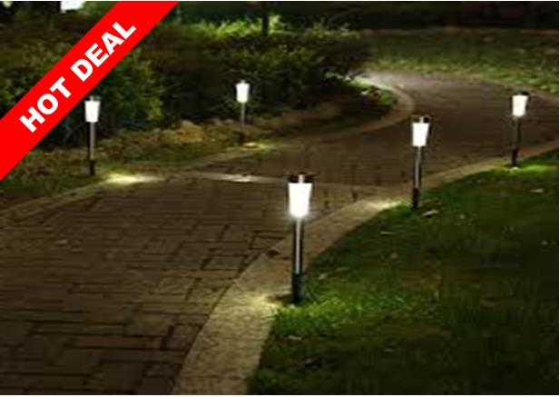Solar LED Walkway Pathway Garden Lamp Light Landscape Decoration. U2039 U203a