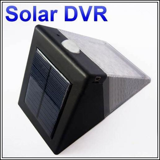 Solar Light With Motion Activated Hidden Camera (DVR-30A).!
