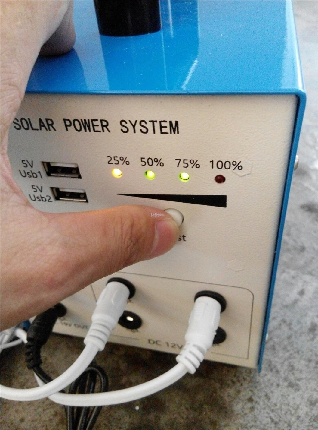 Solar Panel 10W 12V 7.2Ah Battery Home System Pasar Malam Portable