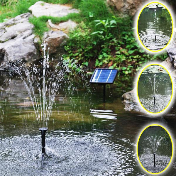 Solar Panel Brushless Water Pump Pond Fountain Watering System