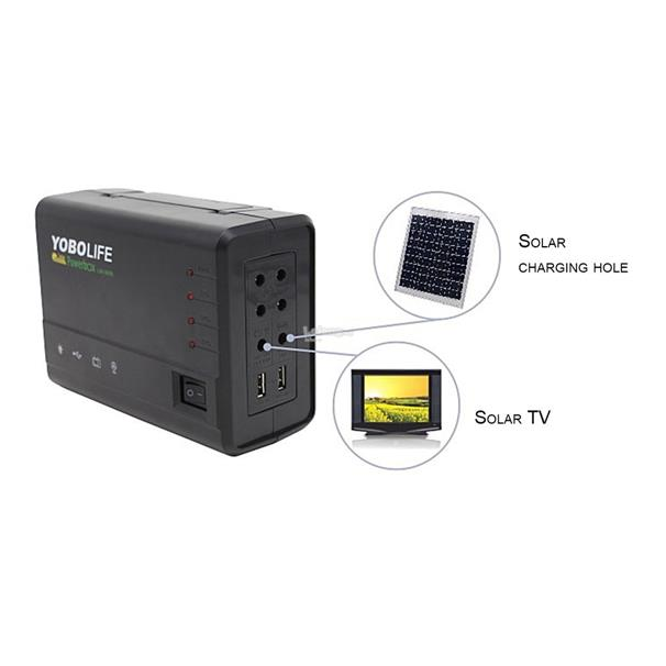 Solar Panel Power Storage Generator 12V LED Light USB Charger Home Sys