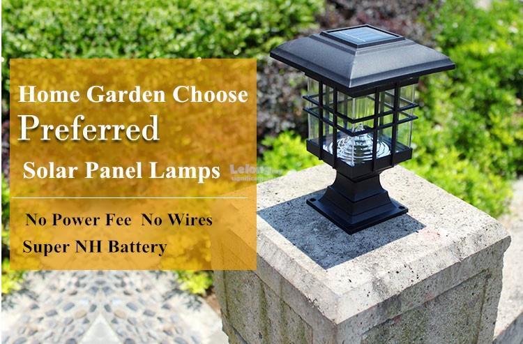 Residential Solar Light Post: Solar Post LED Housing Solar Lamp Gar (end 3/5/2018 9:15 AM