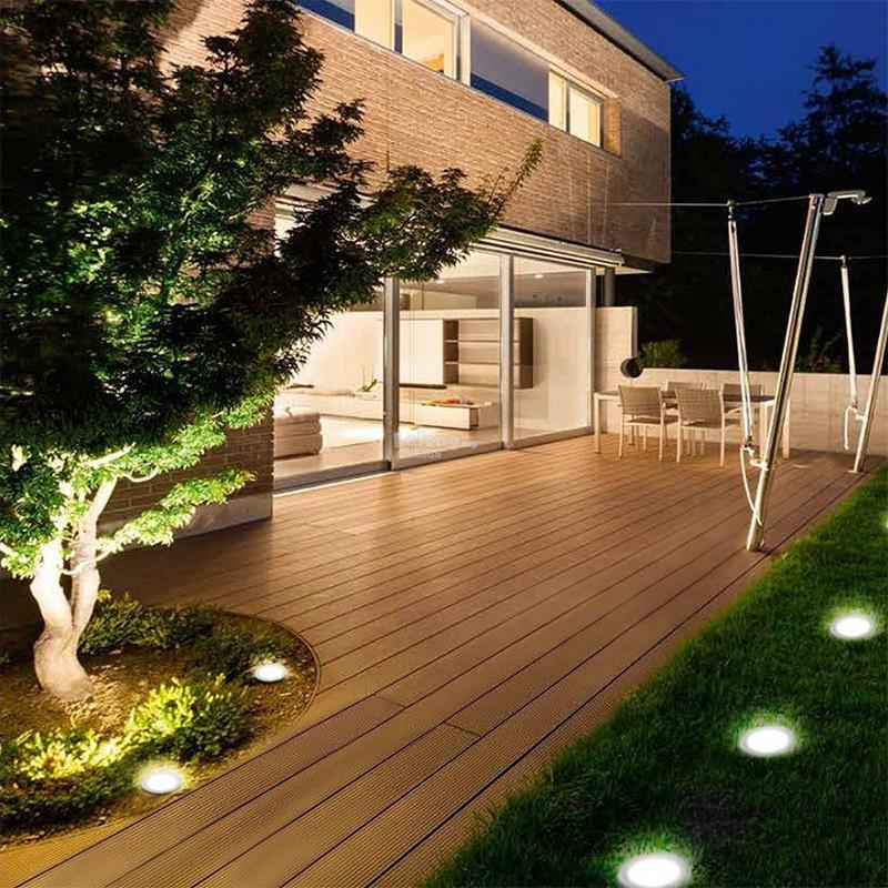 Solar Powered Disk Lights TV Show 4pcs Garden Light Home