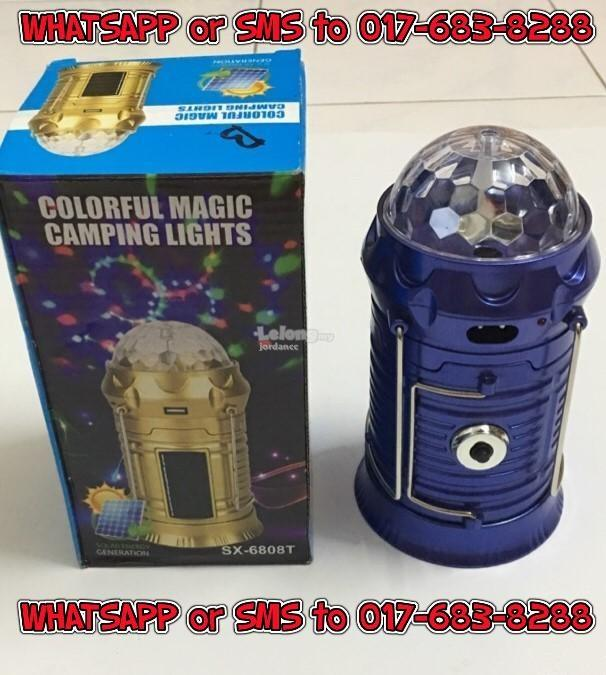 Solar Rechargeable LED Camping Lantern Torch/ Power Bank / Disco Light
