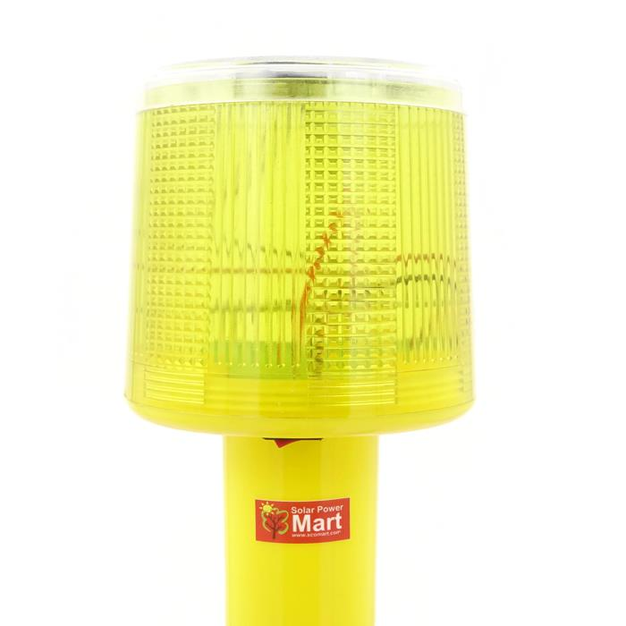 Solar Warning Signal Light - Yellow Colour Light