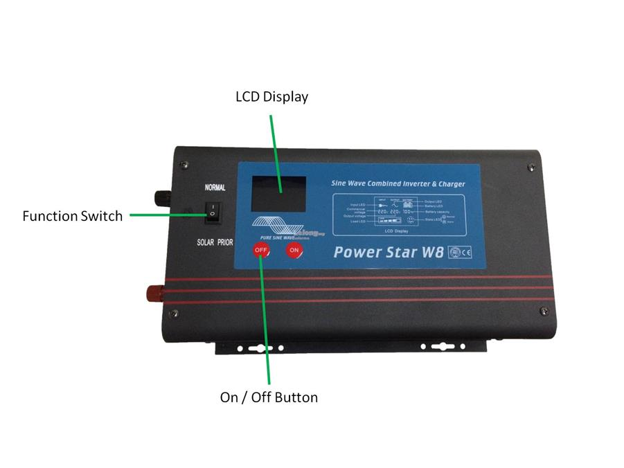 SOLARMO 1000W 24VDC Low Frequency Pure Sine Wave Solar Inverter