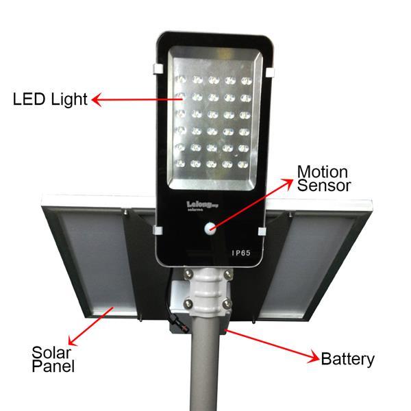SOLARMO 30 LED 2350 Lumens Solar Street Light with Motion Sensor