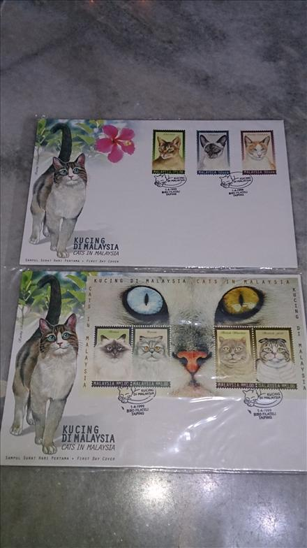 SOLD OUT Malaysia 1999 - Cats in Malaysia, Kucing MS & Stamps FDC Set