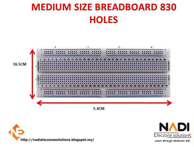 Solderless PCB Breadboard Protoboard 830 Points Holes Arduino PIC
