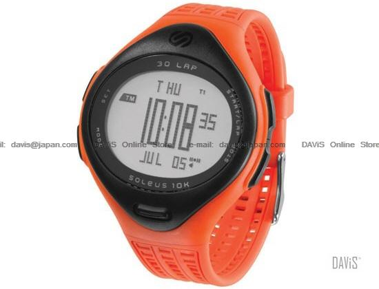 SOLEUS Running SR006-801 10K Large 30-lap data storage PU strap orange