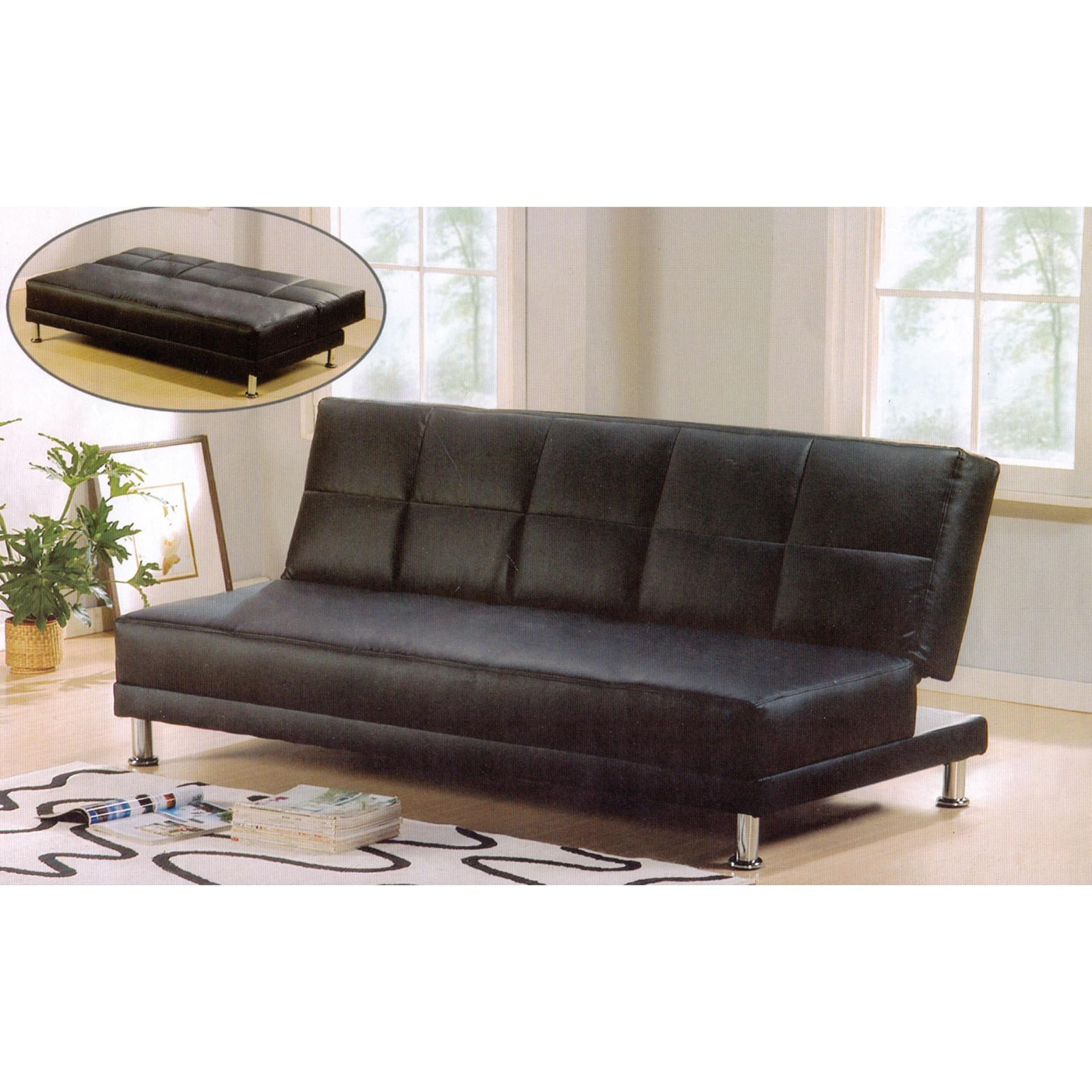 Solid 3-Seater Leather Lounge Sofa Bed Office Sofa Bed Room Sofa Bed