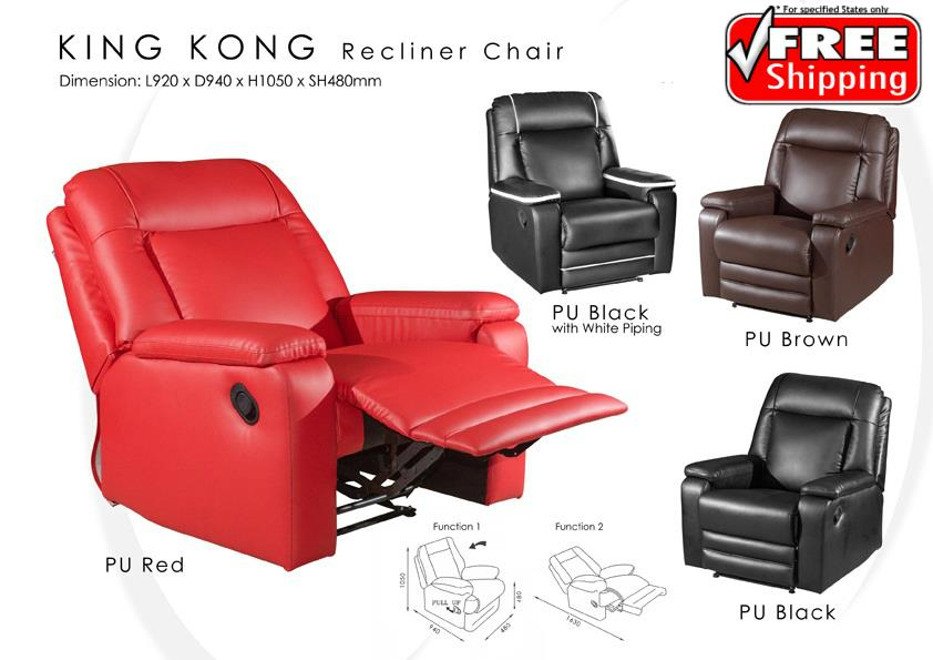 Amazing Solid Pu Recliner Chair Sofa With 2 Functions Machost Co Dining Chair Design Ideas Machostcouk