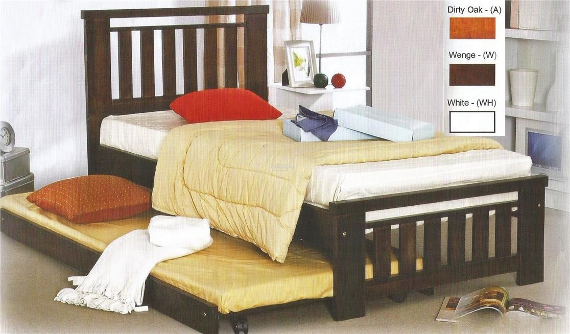 Solid Rubber Wood Single Bed Frame