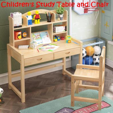 Solid Wood Study Table And Chair Design Ideas
