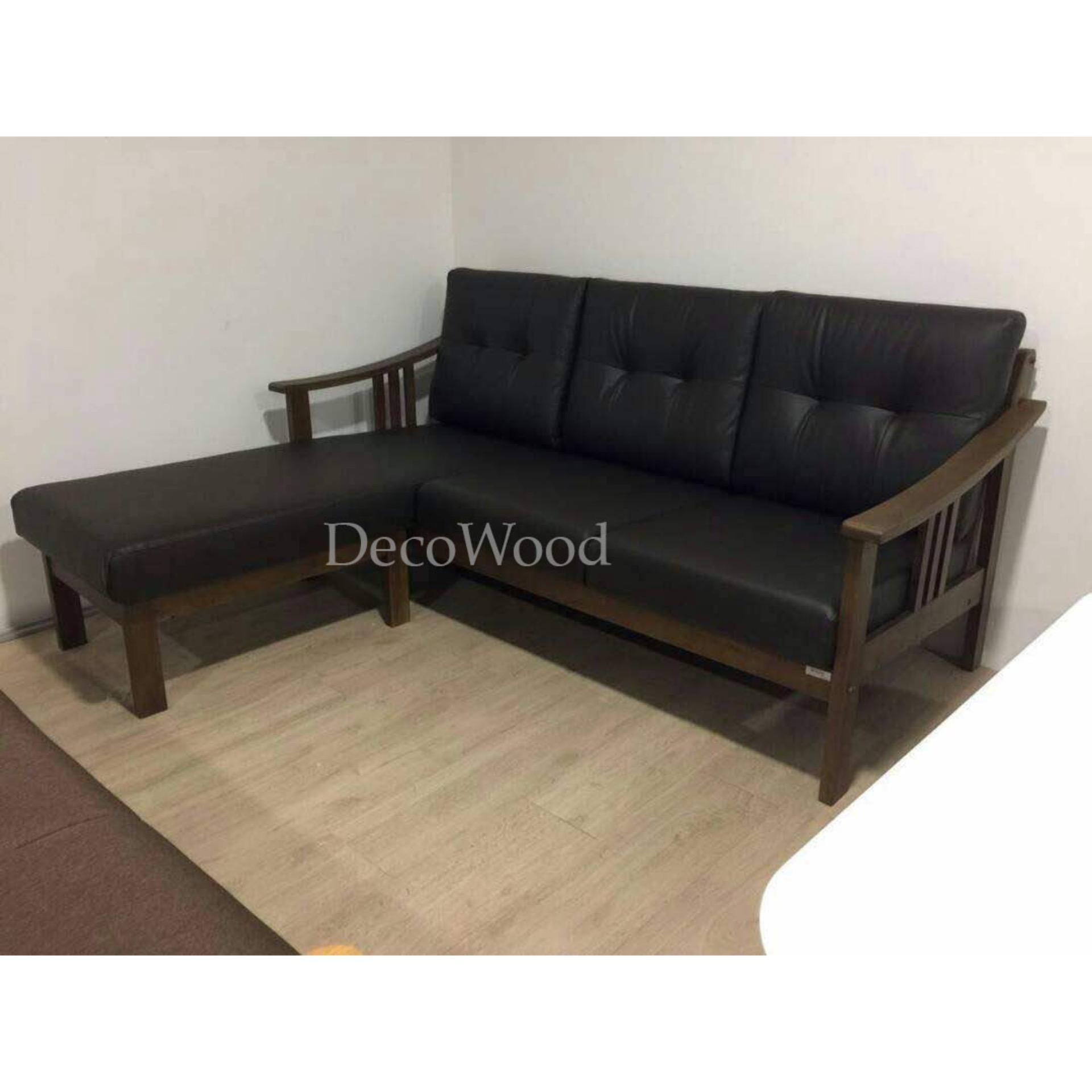 Solid Wood L Shape Cushion Sofa Loun End 5 3 2021 12 00 Am