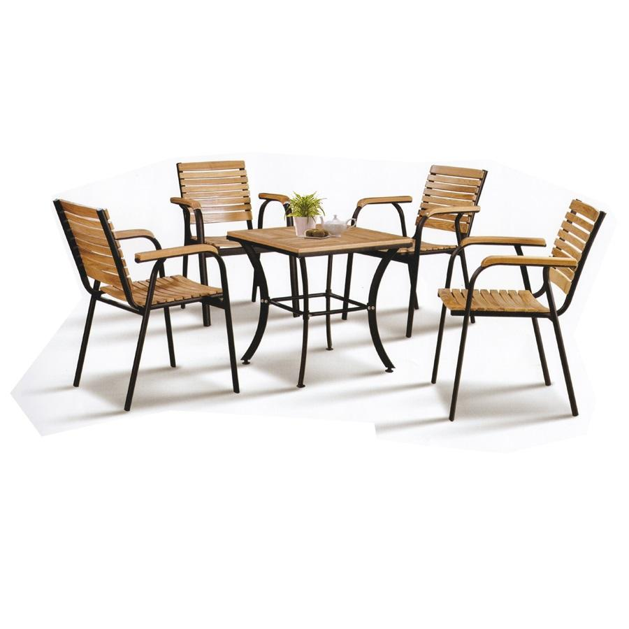 Solid Wood Outdoor Dining Set Garden (end 5/1/2021 12:00 AM