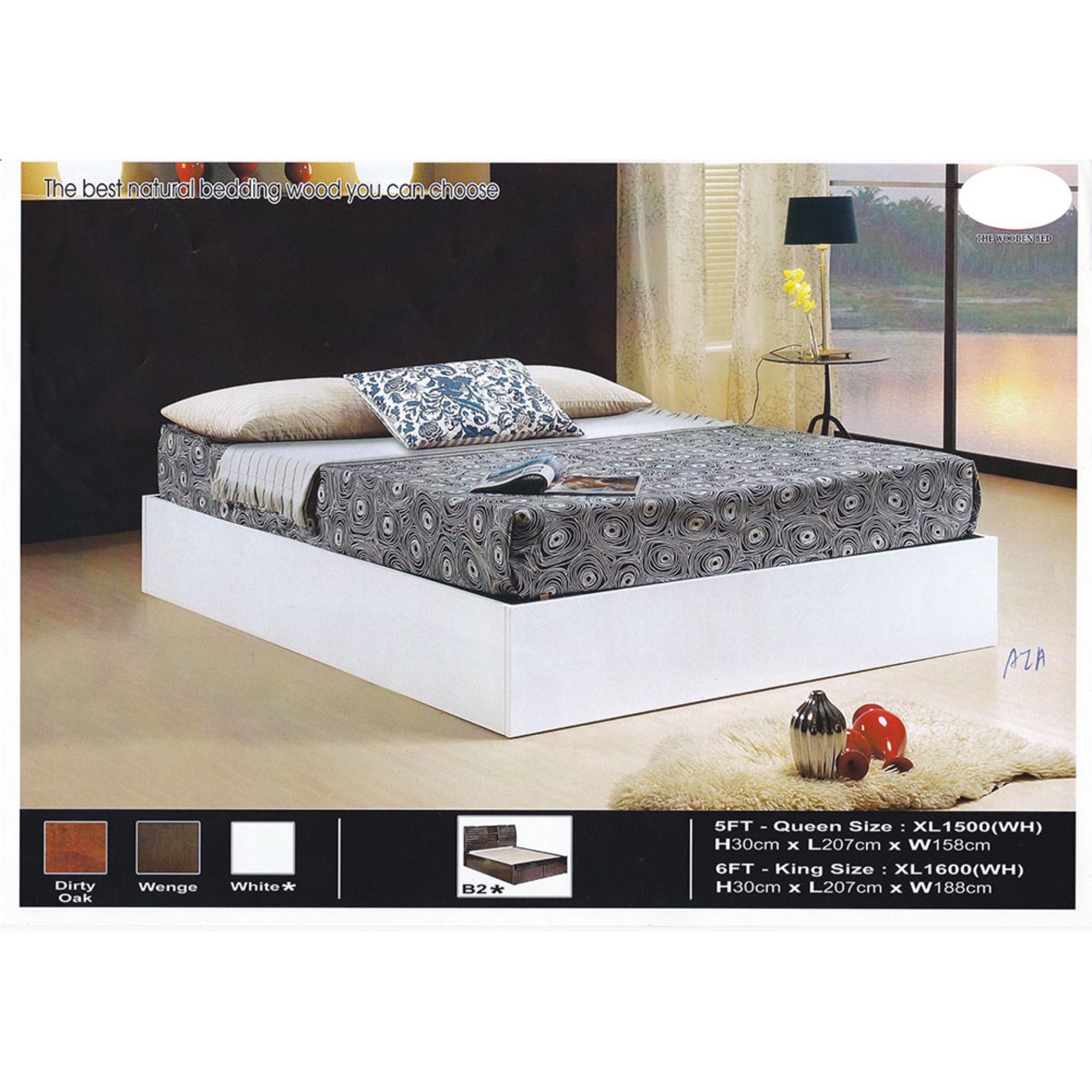 the latest 75123 fc6fa Solid Wood Strong Queen Size Wooden Bed Frame