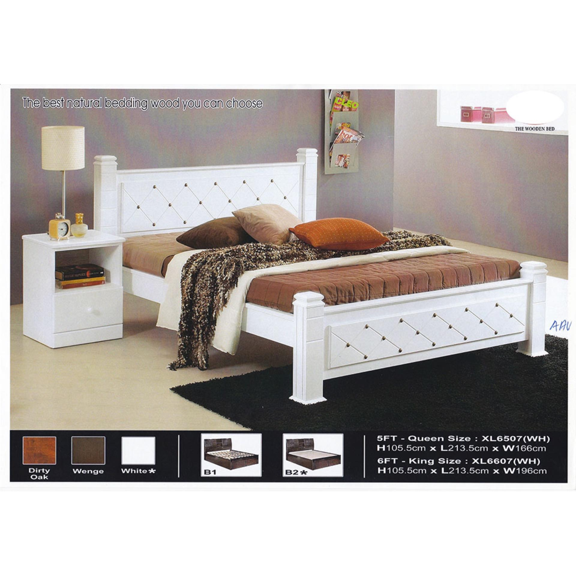 Solid Wood Strong Queen Size Wooden End 522021 1200 Am