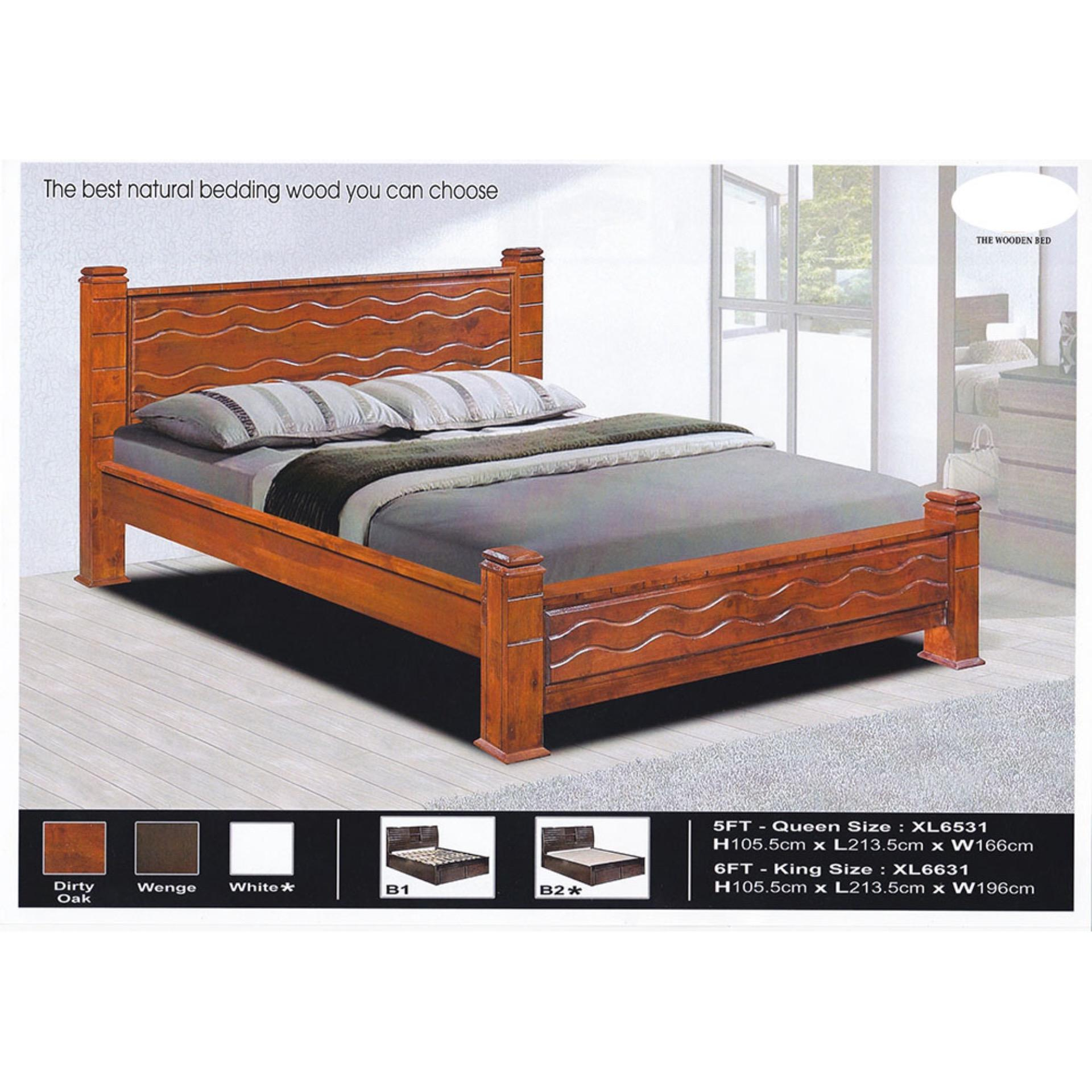 hot sales 26a2d 5b16a Solid Wood Strong Queen Size Wooden Bed Frame L2135MM X W1135MM X H113