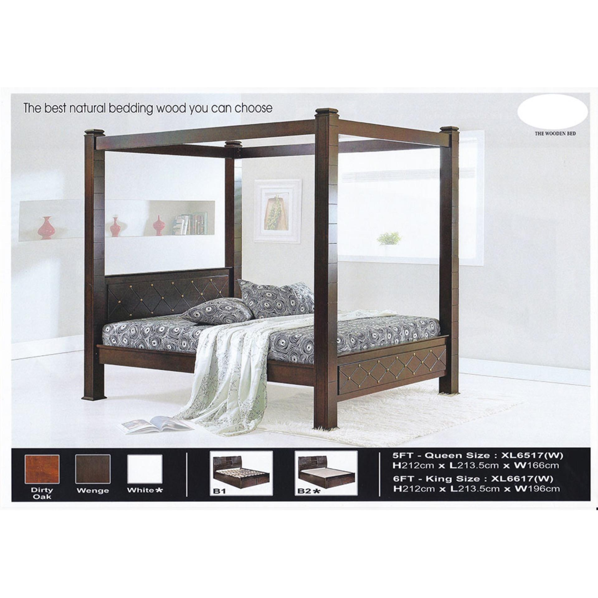 best website 348a2 2b2f0 Solid Wood Strong Queen Size Wooden Bed Frame L2135MM X W1660MM X H212