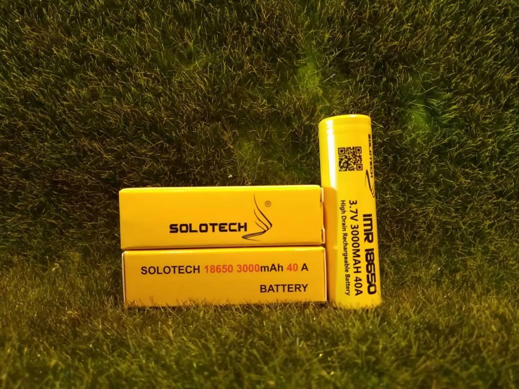 Solotech 18650 40 AMP 3000MAH Vape High Drain Battery (100% Genuine)