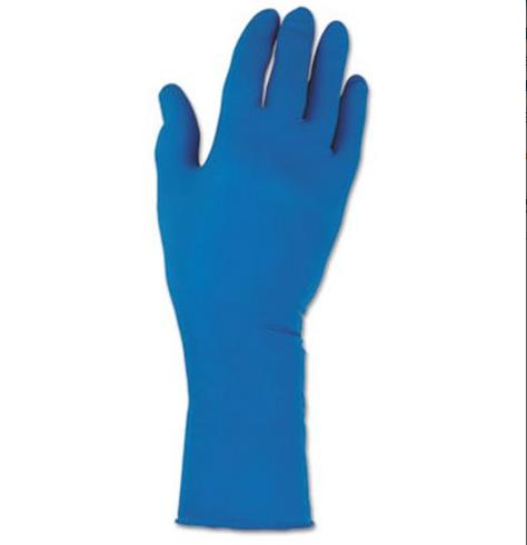 Solvent Resistant Gloves, Medium, Blue, 100 Gloves