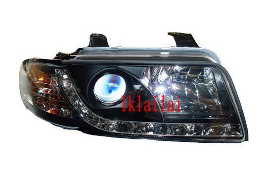 SONAR Audi A4 '94-98 Projector Head Lamp R8 DRL [Black]