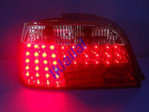 SONAR BMW E38 Red Clear Crystal LED Tail Lamp