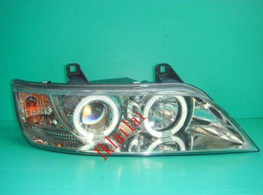SONAR BMW Z3 E40 '96-02 Projector Head Lamp LED Ring Chrome Housing