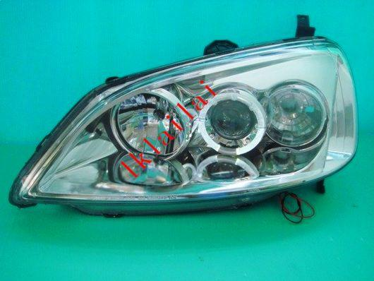 SONAR Honda Civic 01-03 Black Face Projector Headlamp with LED Ring