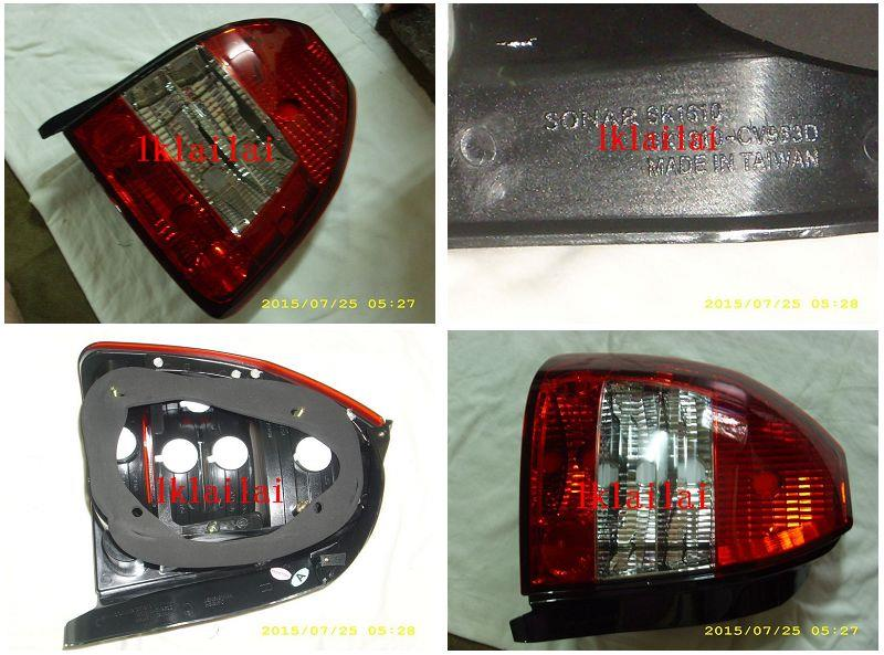 SONAR Honda Civic 3D '96-00 Crystal Tail Lamp [Red-Clear]