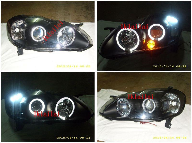 Sonar Toyota Altis 01-07 LED Ring Projector Head Lamp [Per Pair]