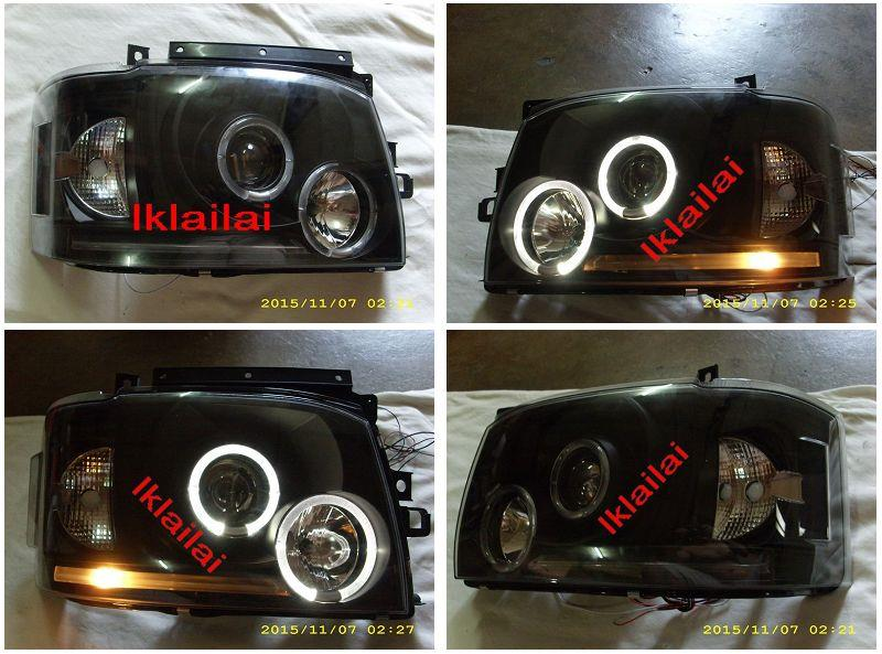 Sonar Toyota Hiace '04 LED Ring Projector Head Lamp Black