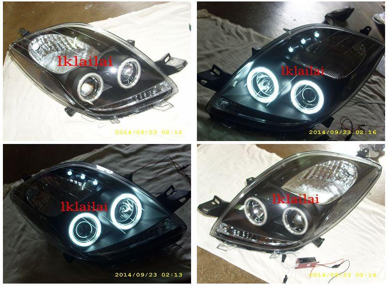SONAR Toyota YARIS '06 CCFL Ring Projector Head Lamp + 3LED