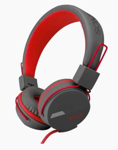 SONIC GEAR Headset Wired VIBRA 5 GREY RED