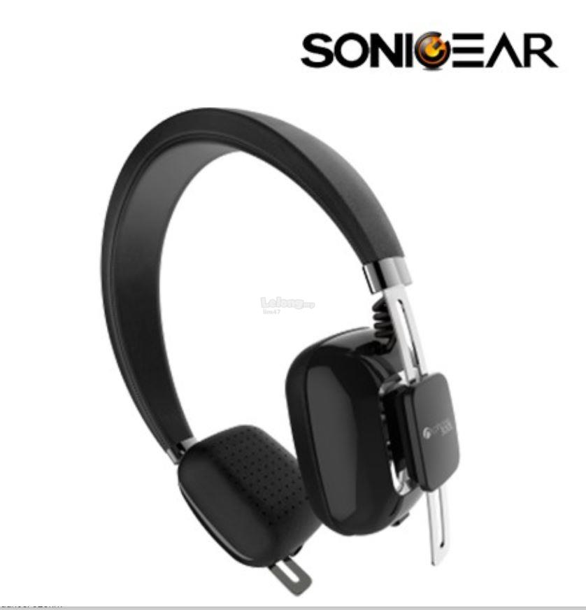 SonicGear AirPhone 300L Wireless Bluetooth Headset (Black)