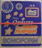 SONOFORM 9.5'' x 11'' 3 PLY NCR 2UP COMPUTER FORM - 300 FANS