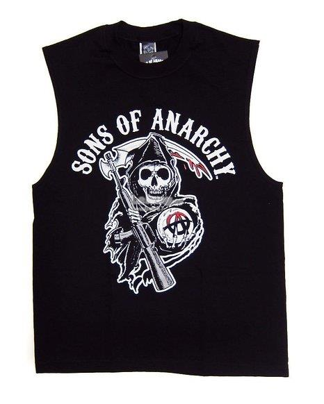 Sons Of Anarchy Color Reaper Logo Sleeveless  T-shirt - New