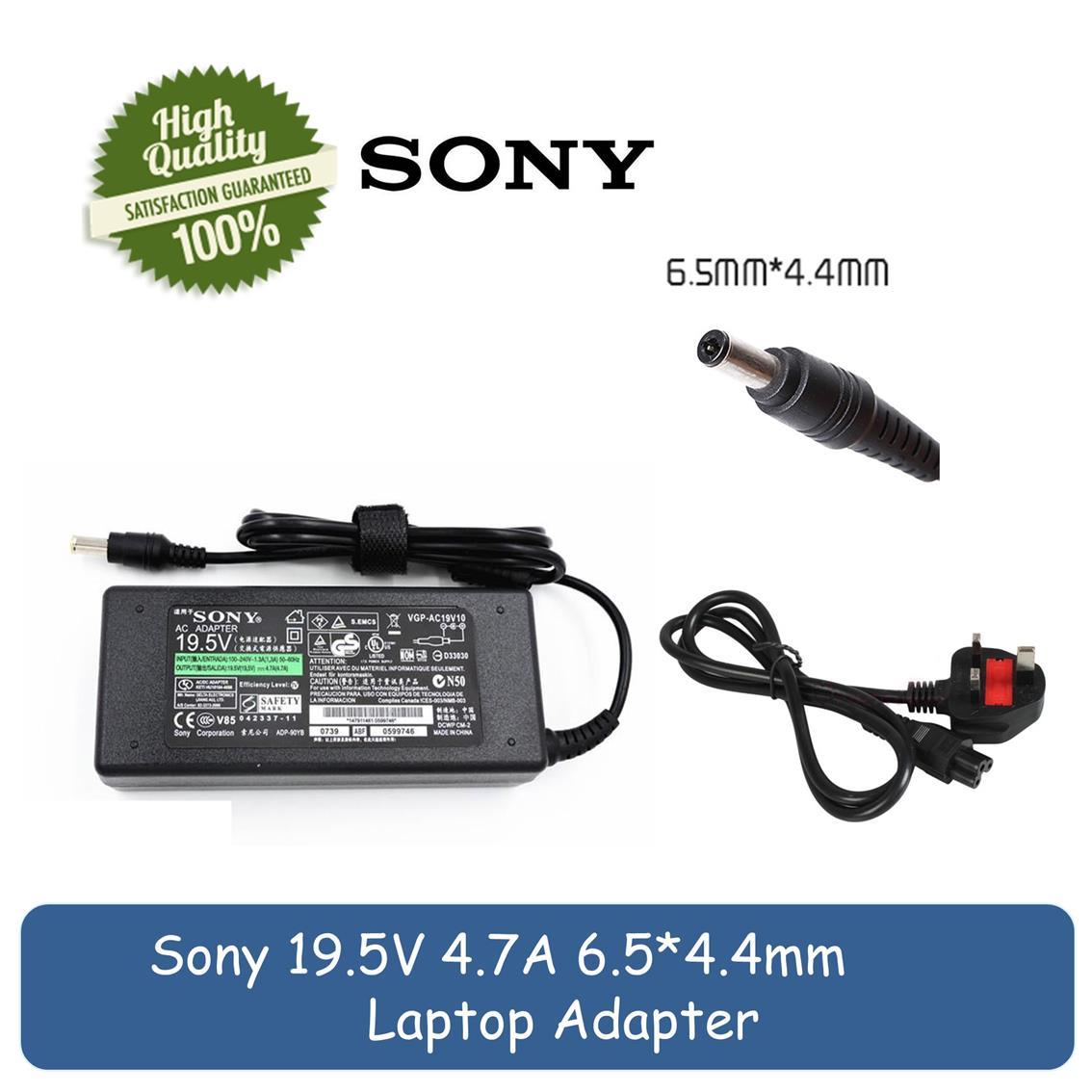Sony 195v 47a Vaio Vgn S3 Vgn S4 Vgn S5 Vgn Sz 90w Laptop Ac Adapter