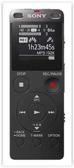SONY 4GB DIGITAL VOICE RECORDER WITH CARD SLOT + USB BLK (ICD-UX560F)