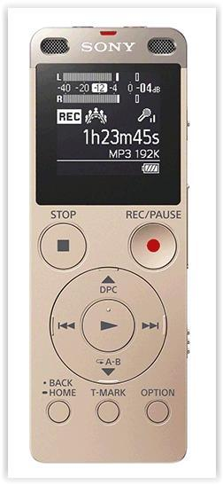 SONY 4GB & TF/M2 CARD SLOT DIGITAL VOICE RECORDER BRONZE (ICD-UX560F)