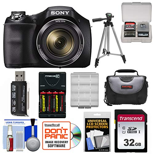 Sony Cyber-Shot DSC-H300 Digital Camera with 32GB Card + Batteries  & Charger