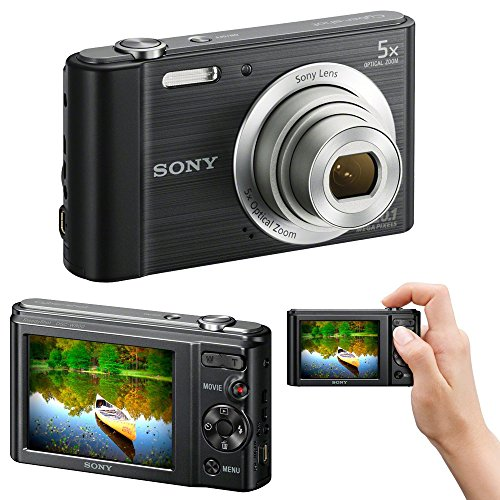 Sony Cyber-Shot DSC-W800 20.1 MP Digital Camera with 5X Optical Zoom and Full