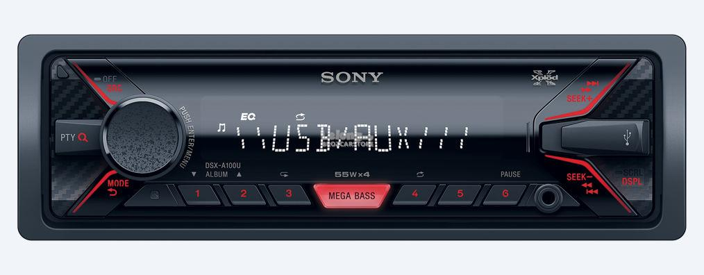 Sony DSX-A100U FM USB Car Digital Media Single Din Player