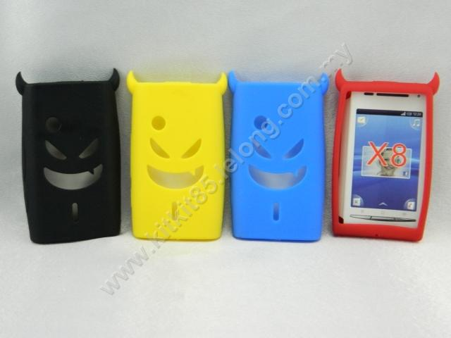 huge selection of ffe44 bbf97 Sony Ericsson Xperia X8 DEVIL SOFT Case Silicone Casing