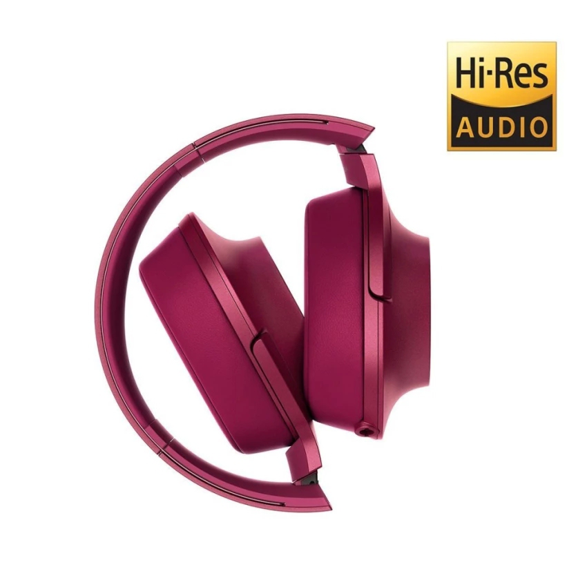 Sony MDR-100AAP Hi-Res Over-Ear Headphones with Mic (Pink)