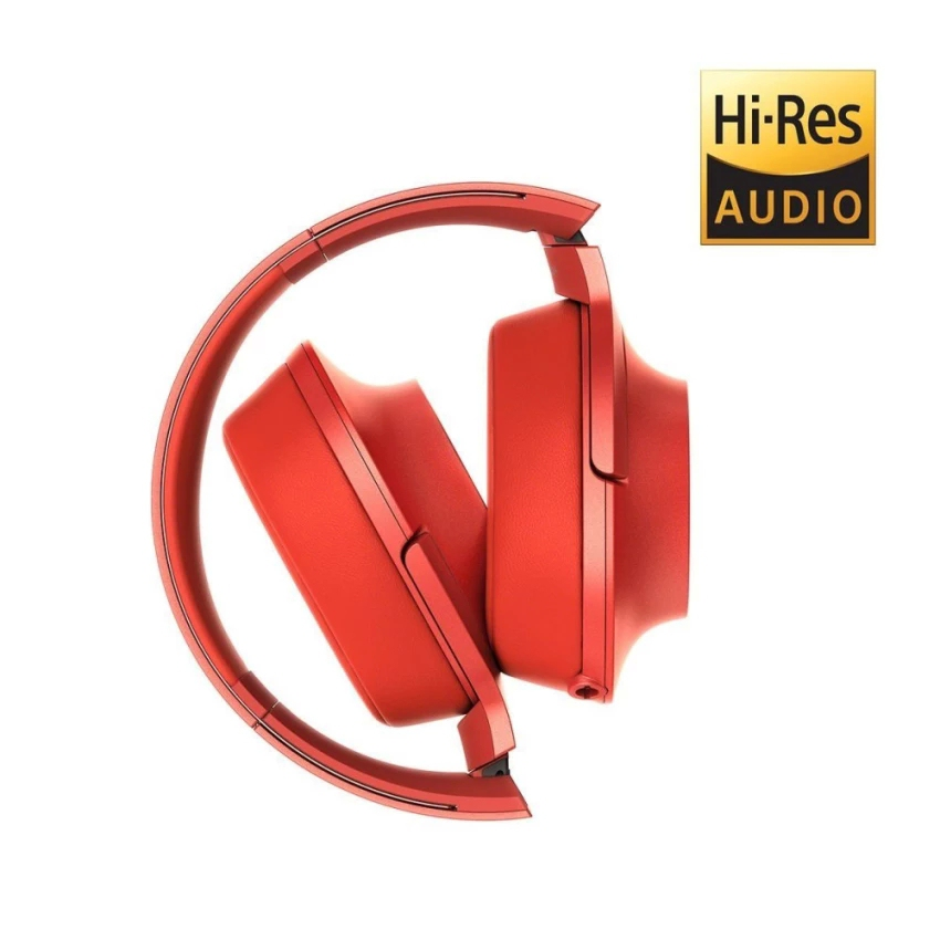 Sony MDR-100AAP Hi-Res Over-Ear Headphones with Mic (Red)