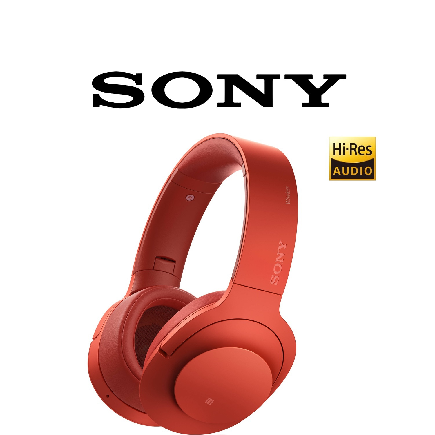 Sony MDR-100ABN HiRes H.ear on Wireless NC (Red) [Sony Malaysia Warran